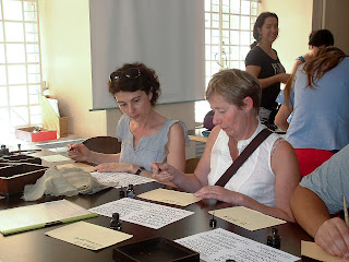 Photo of Gothic letter workshop