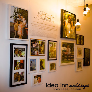 creative wedding ideas to display photos at wedding