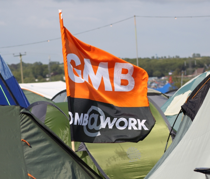 Trade Stands Glastonbury : Midlands tuc media june