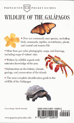 Wildlife of the Galapagos by Julian Fitter, Daniel Fitter, and David Hosking - Back Cover