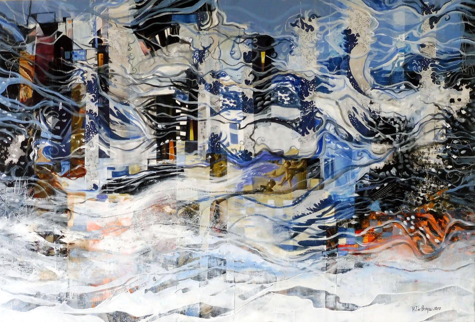Les vagues de l'espérance - 81 x 55 cm - 2020
