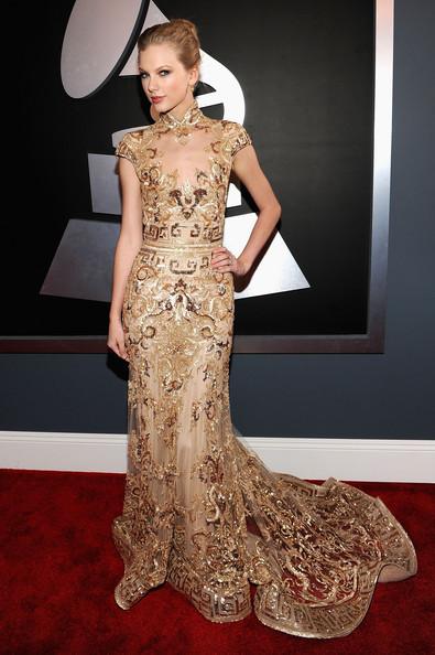 Taylor Swift In Mcqueen Evening Dress