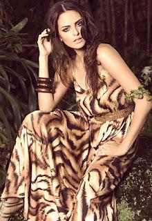 modelo de vestido com estampa de tigre - fotos e modelos