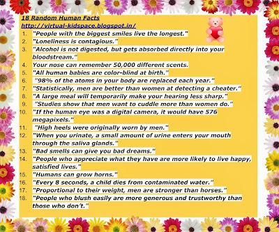 18 Random Human Facts