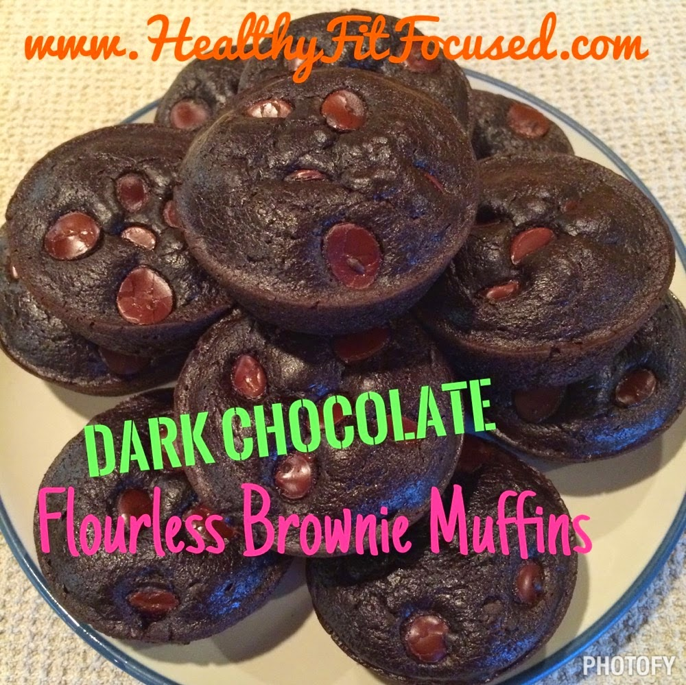 Healthy TIPS: How to Survive Halloween, dark chocolate flourless brownie muffins