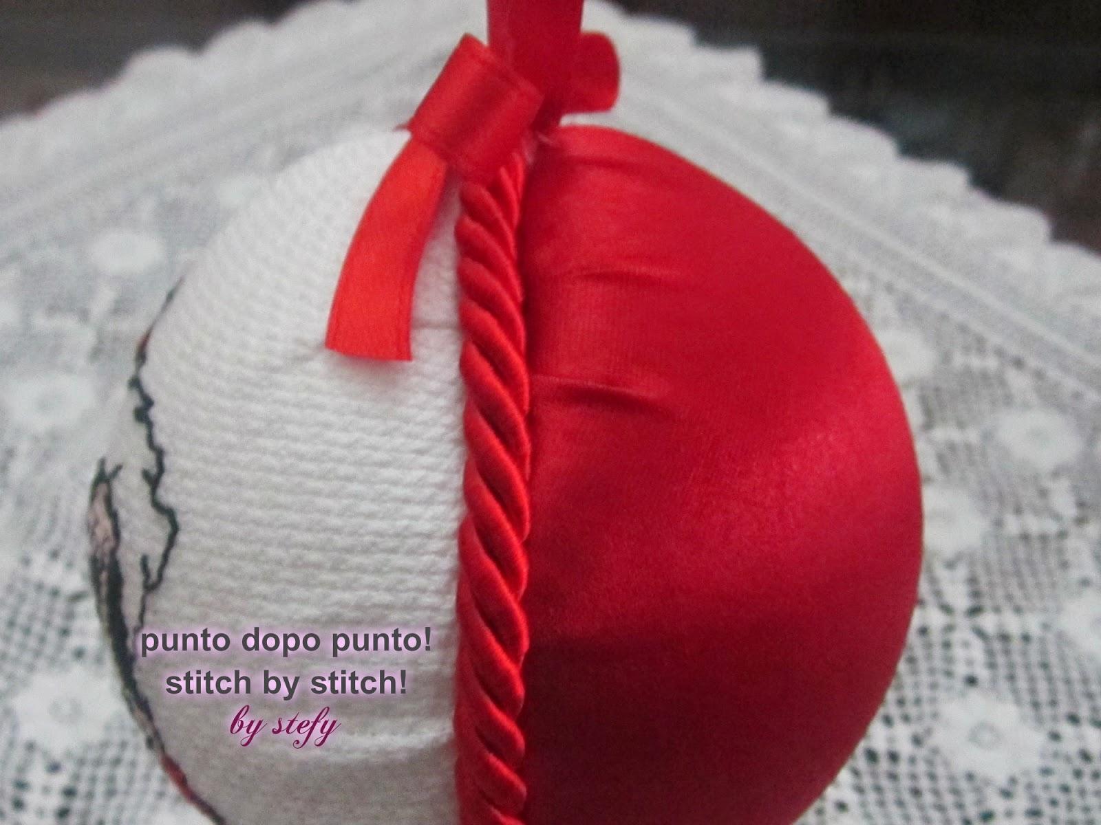 Estremamente Punto dopo punto! by stefy: Decorazione natalizia personalizzata  ZK56