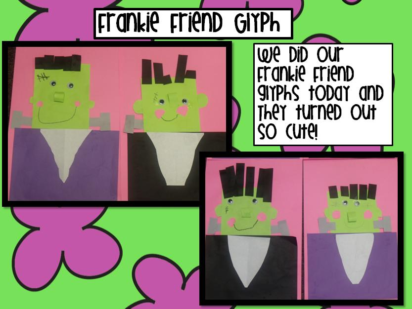 the frankie friend glyph and activities are part of my halloween unit that is available on tpt - Halloween Glyphs