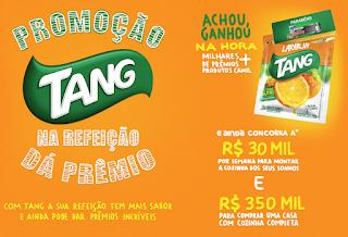Promoção Tang na Refeição dá Prêmios