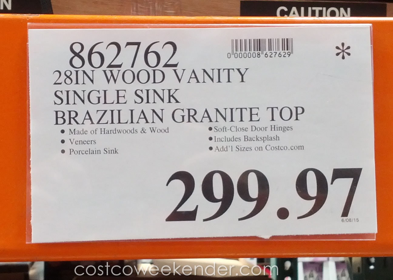 Costco Granite Countertops Canada : ... Manchester Wood Vanity with Brazilian Granite Top Costco Weekender