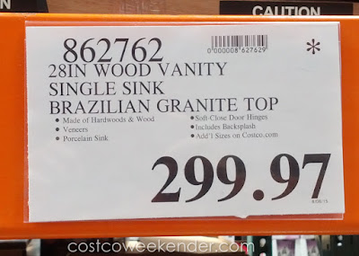 Deal for the Mission Hills Manchester Wood Vanity at Costco