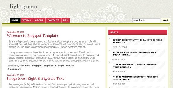 Light Olive Green Premium Blogger Template
