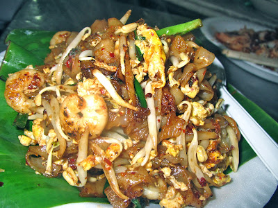 Char Kuey Teow, Malaysian cuisine, noodles, shrimp, blood cockles, chives, beansprouts, egg, dinner