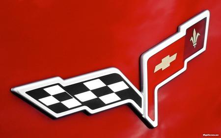 Corvette Stingray Font on Corvette Logo Wallpaper