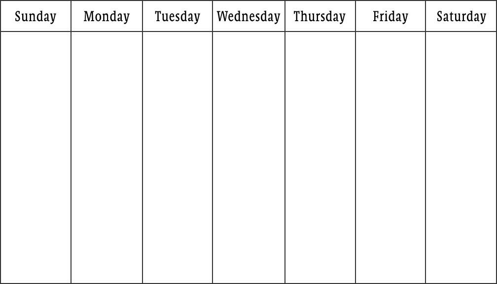 Weekly Calendar 2018 Templates | Word PDF Excel - Get ...