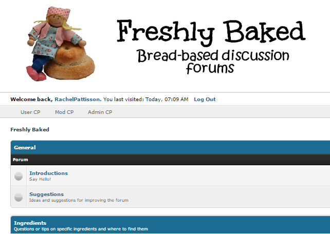 Freshly Baked Discussion Forum