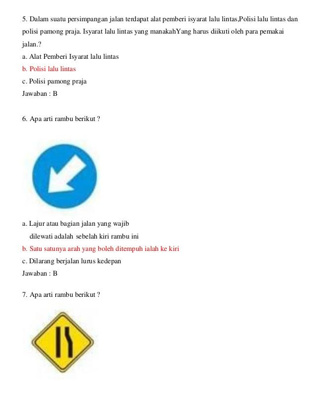 Umar Al Faruq Soal Ujian Teori Sim C