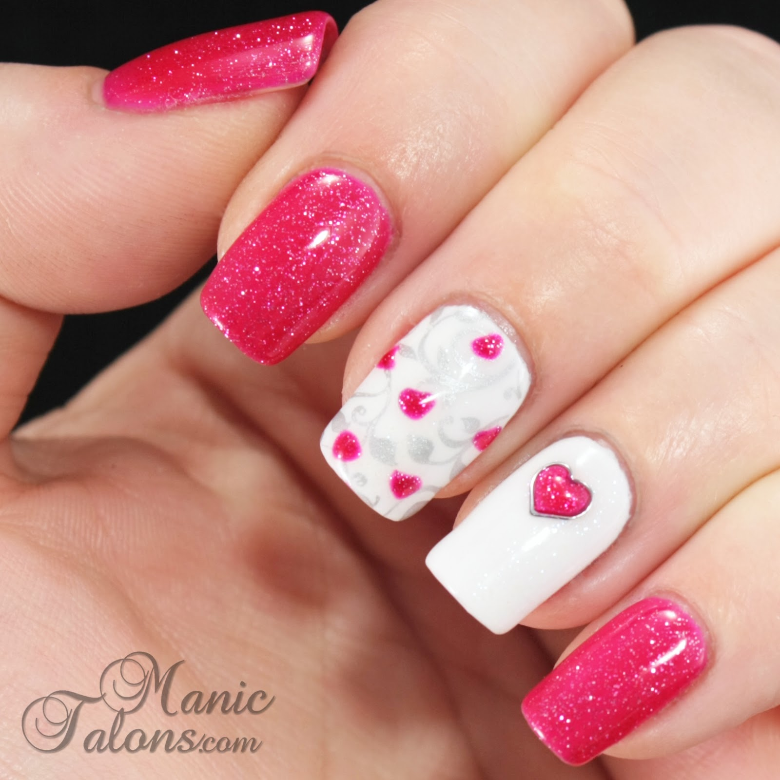 Valentine's Day Gel Polish Manicure