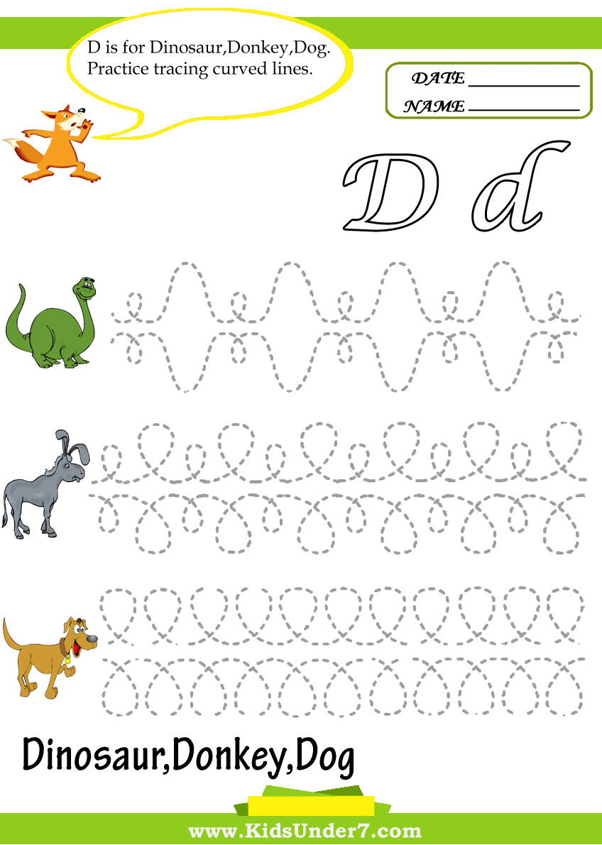worksheet Letter D Worksheets For Preschool kids under 7 april 2011 letter d worksheets