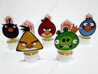 Lembrancinhas Temáticas Angry Birds - Tubinhos