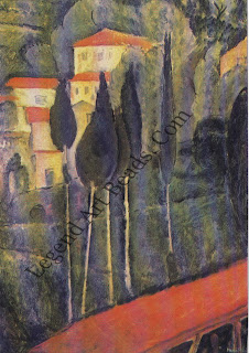 Landscape at Cagnes Modigliani's rare landscapes were done in the South of France. Working with Sou tine, Modigliani may have been affected by the other's passion for landscape.