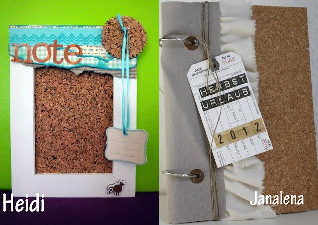 Material der Woche |Pinnwand und Minibook-Cover mit Kork