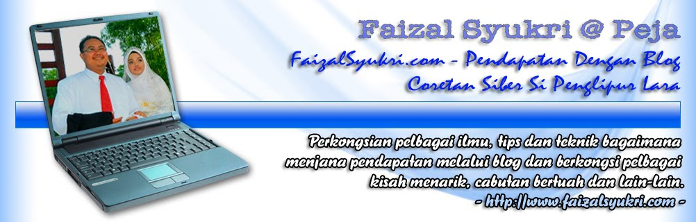 FaizalSyukri.com - Pendapatan Dengan Blog