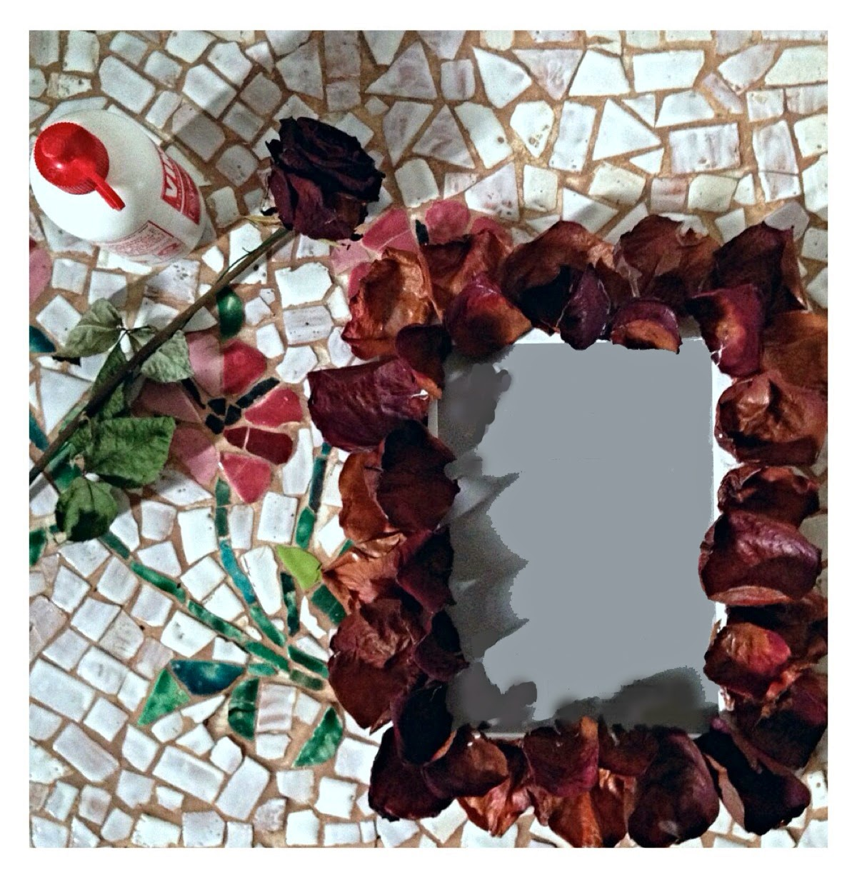 frame portrait roses handmade tutorial how can i do