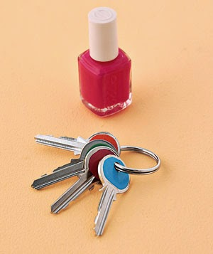 30 Awesome DIY Projects that You've Never Heard of - Nail Polish Key Identification