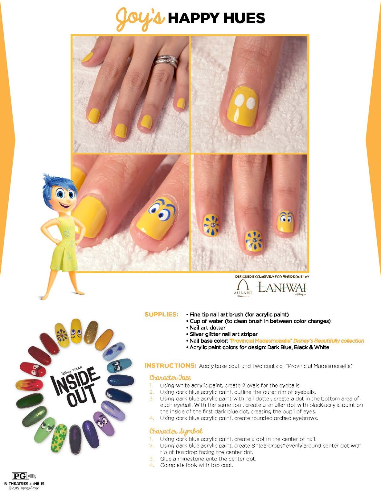 CanDoItMom BLOG: #INSIDEOUT - Print Out Activities + Nail Art Designs