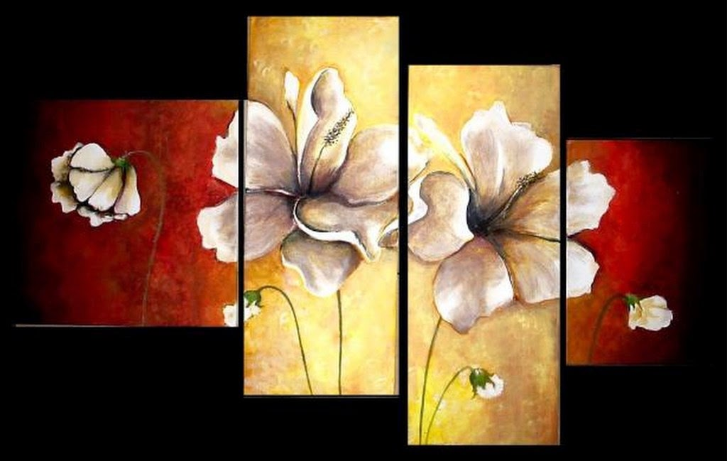 flores-rojas-cuadros-pintados-al-oleo