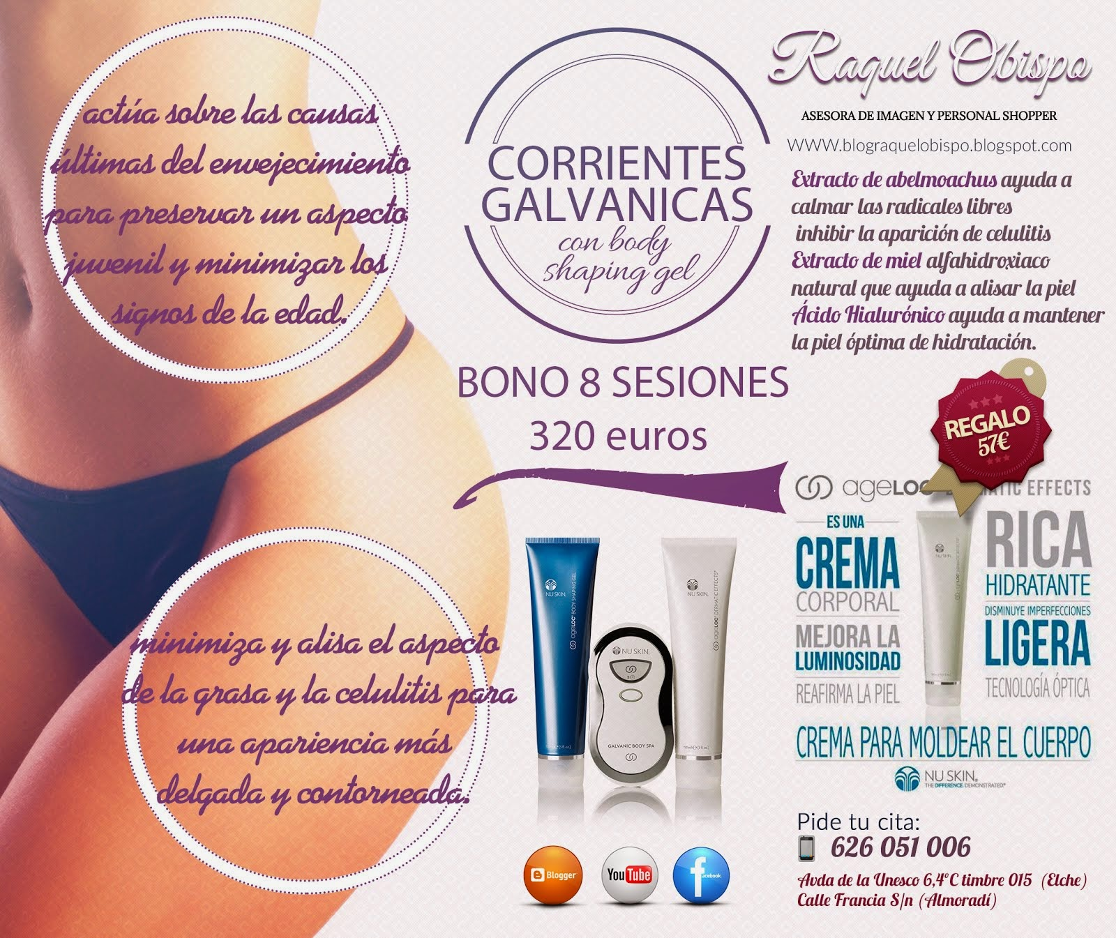 Corrientes Galvanicas con Body shaping gel