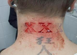 tatuagens bizarras tatuagem cicatriz 2