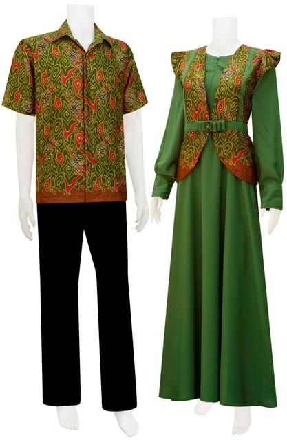Batik Sarimbit Gamis Hijab Cardi Khas Solo Kode Sgca2