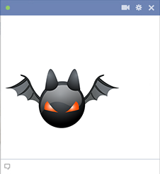 Creepy bat icon for Facebook