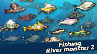Screenshots of the Fishing River monster 2 for Android tablet, phone.