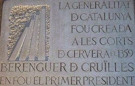 La Generalitat de Catalunya té 6 segles més que la Constitución Española