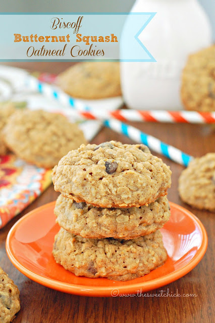 Biscoff Butternut Squash Oatmeal Cookies by The Sweet Chick