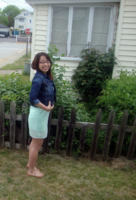 One Shoulder Mint Green Dress,