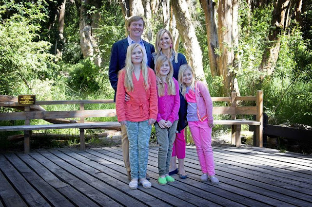 King Willem-Alexander of Netherlands and Queen Maxima of Netherlands, along with their daughters, Princesses Amelia, Alexia and Ariana