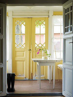 One of my favorite doors of all time. I originally posted it here. Love it. But probably better in a room that is more mellow than my living room. & a home in the making: inspired painting interior doors pezcame.com