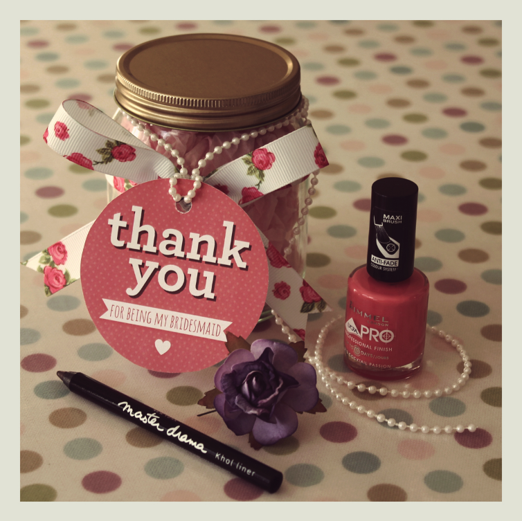 Diy Wedding Thank You Gift Ideas : Bridesmaids Make Up Gifts Henry and Flora Wedding Stationery