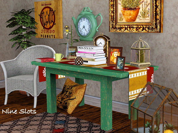 My Sims 3 Blog Table With Decorative Runner By Om