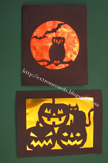 Halloween silhouette cards