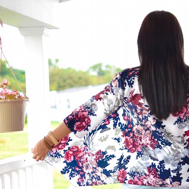 Multicolor Floral Print Kimono