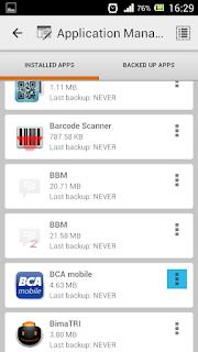 Cara Backup aplikasi android, cara membuat cadangan aplikasi android, cara mem-backup aplikasi android menjadi APK