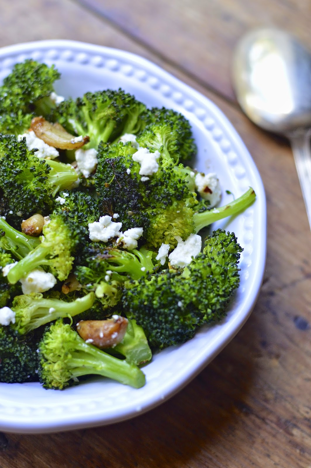 Roasted Broccoli and Garlic with Feta Will Make Anyone Become a Broccoli Lover! www.virtuallyhomemade.com