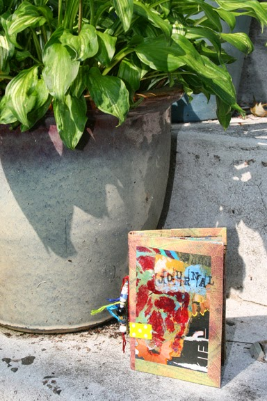 Art Journal of recycled cereal boxes, paper bags and fun.