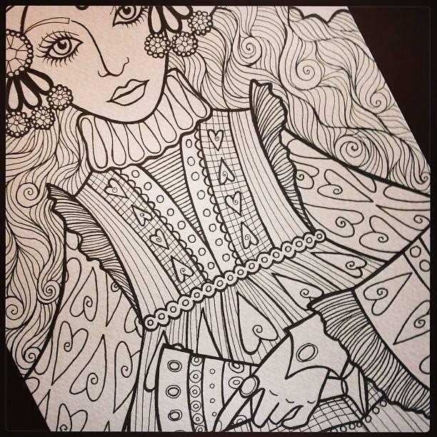 Sneak Peek Of My Dover Publishing Tarot Coloring Book