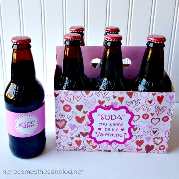 "Soda"" Pop Valentine from herecomesthesunblog.net #valentine"