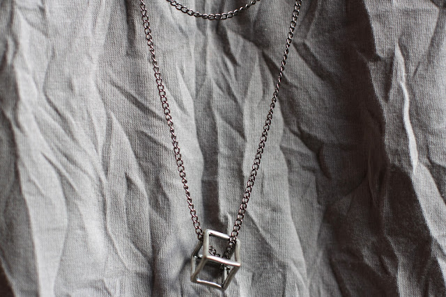 2nd Day necklace with cube